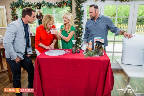 "Mark Steines and Cristina Ferrare are celebrating Christmas in July! All week long we will have great decorating and food ideas to get you inspired and ready for Christmas! We talk with actor, Richard Brancatisano about the return of ABC Family's ""Chasing Life""! Actress, Brittany Daniel tells us what to expect in the final season of her show, ""The Game"" on BET. Cristina makes fun and delicious Snowmen Cake Pops! Shirley Bovshow shows you how to decorate your home with real, tiny Christmas trees! Make your house smell like a winter wonderland as you clean, with a DIY Pine Scented Antibacterial Cleaner from Sophie Uliano and Matt Iseman. Food Crafter, Charles Phoenix shares a kitschy and retro Christmas appetizer: Astro Weenie Appetizer Christmas Tree! Get a head start on your Christmas shopping with tips from Cristina Ferrare and Kym Douglas Plus, Ken Wingard creates DIY Christmas Outdoor Snowflakes!"