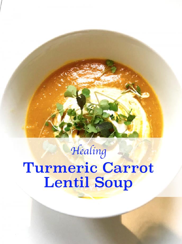 Turmeric Carrot Lentil Soup