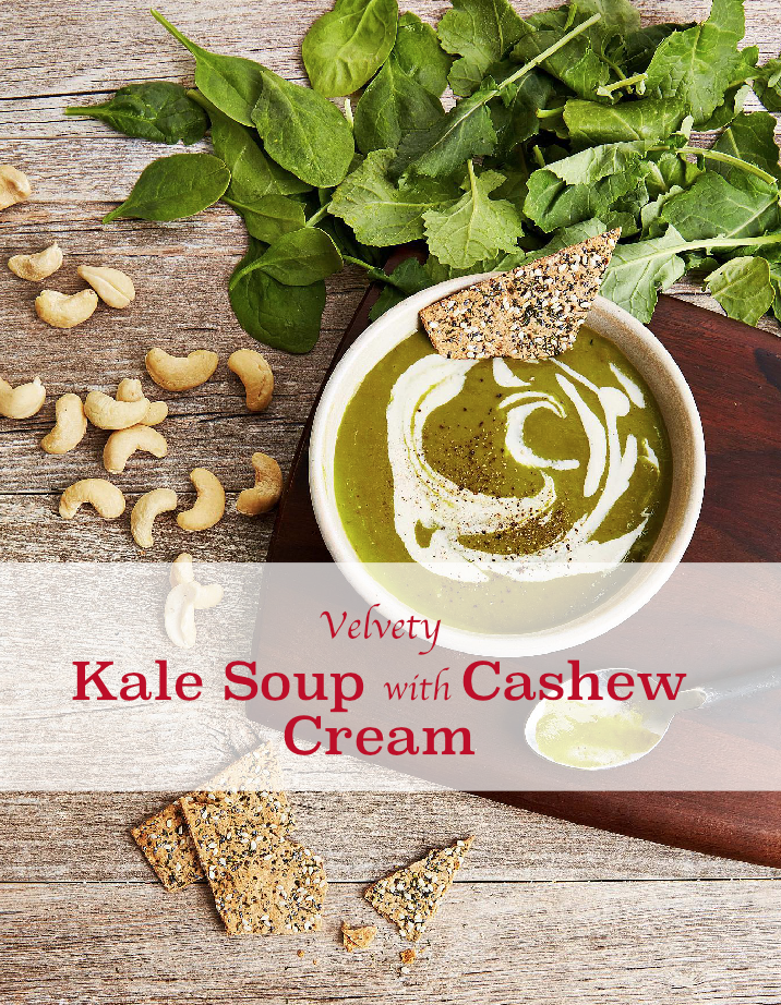 Kale Soup with Cashew Cream