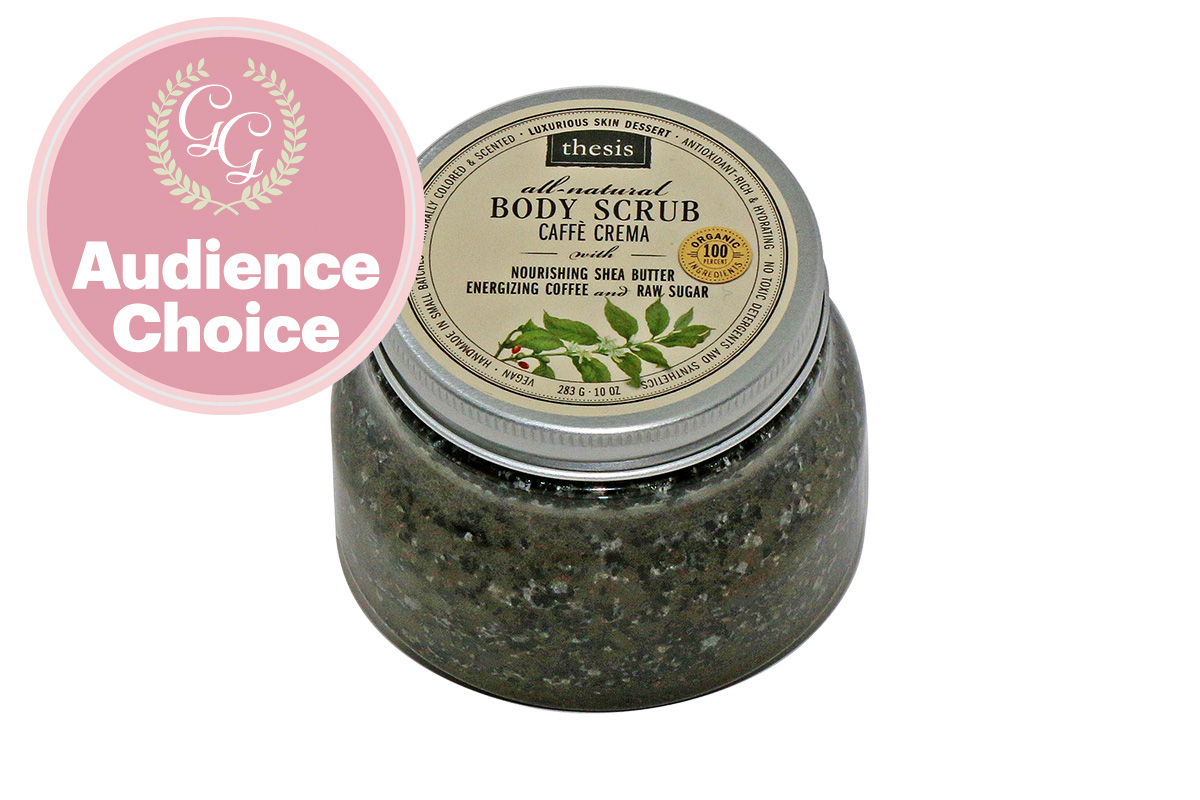Best Cellulite / Skin Firming Product: Body Scrub Caffe Crema Coffee Bliss For Your Skin by Thesis Beauty