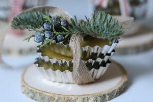 Mini Eucalyptus & Pine Beeswax Candles