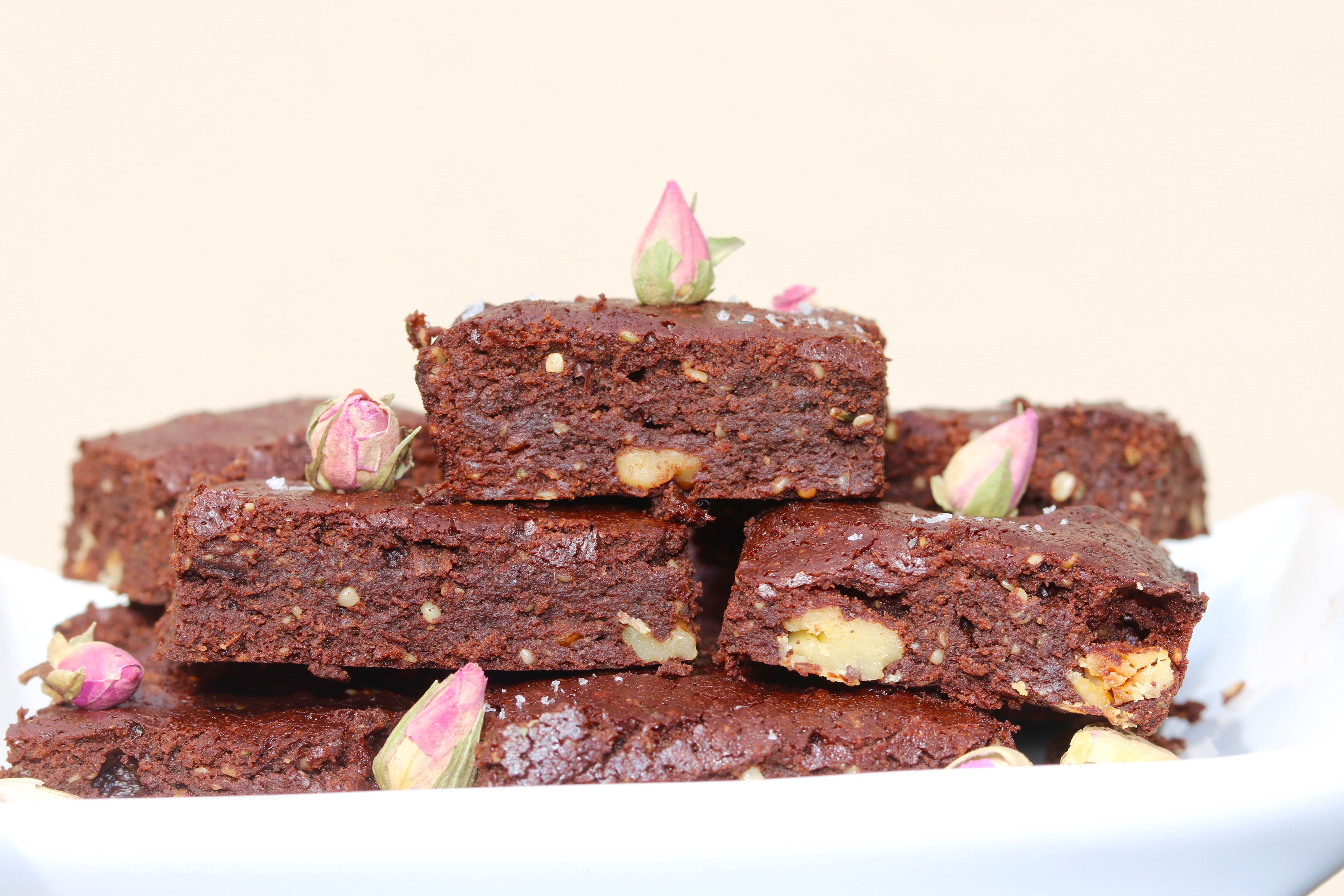 Rose Chocolate Brownies