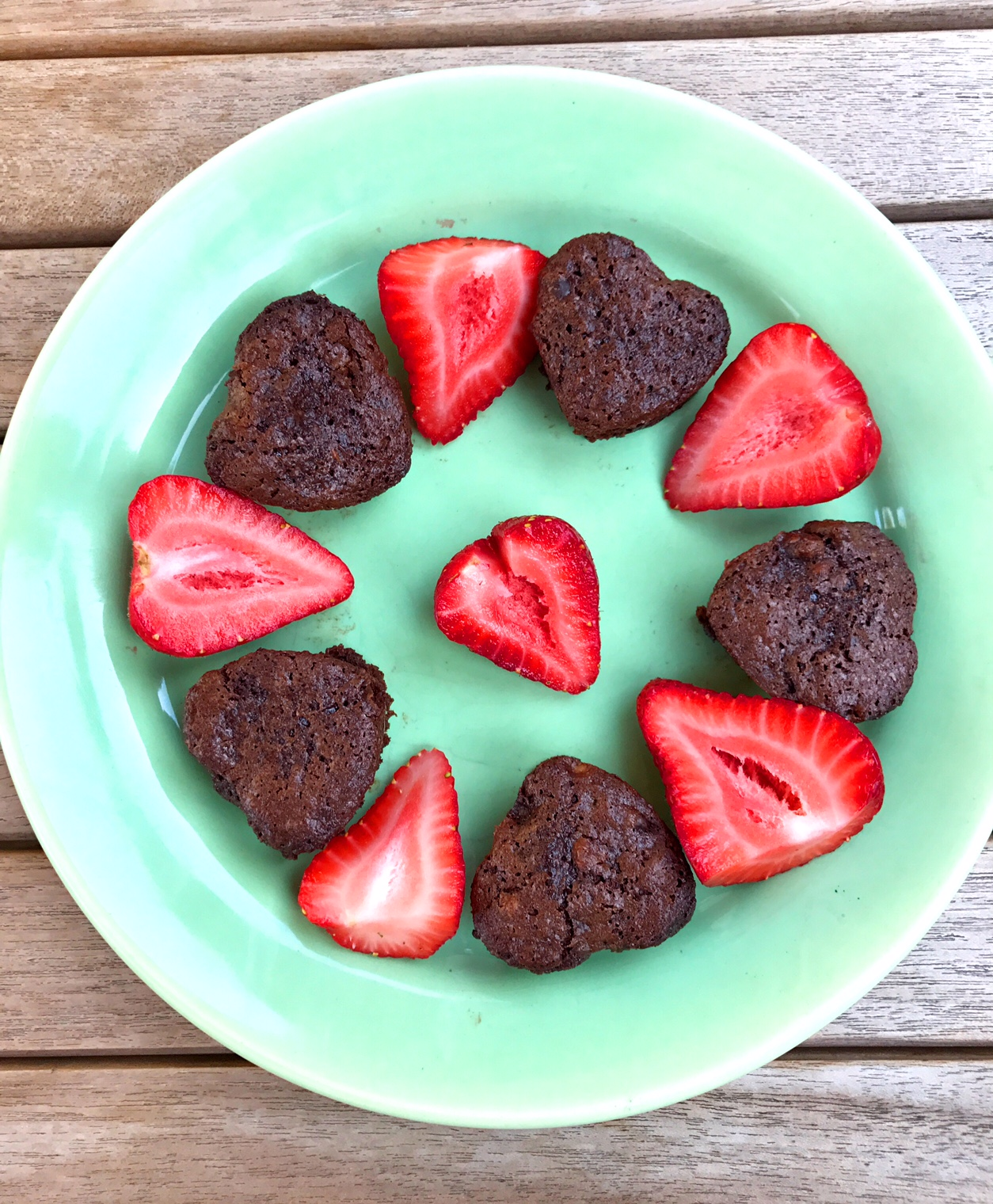 Black Bean Brownie Hearts