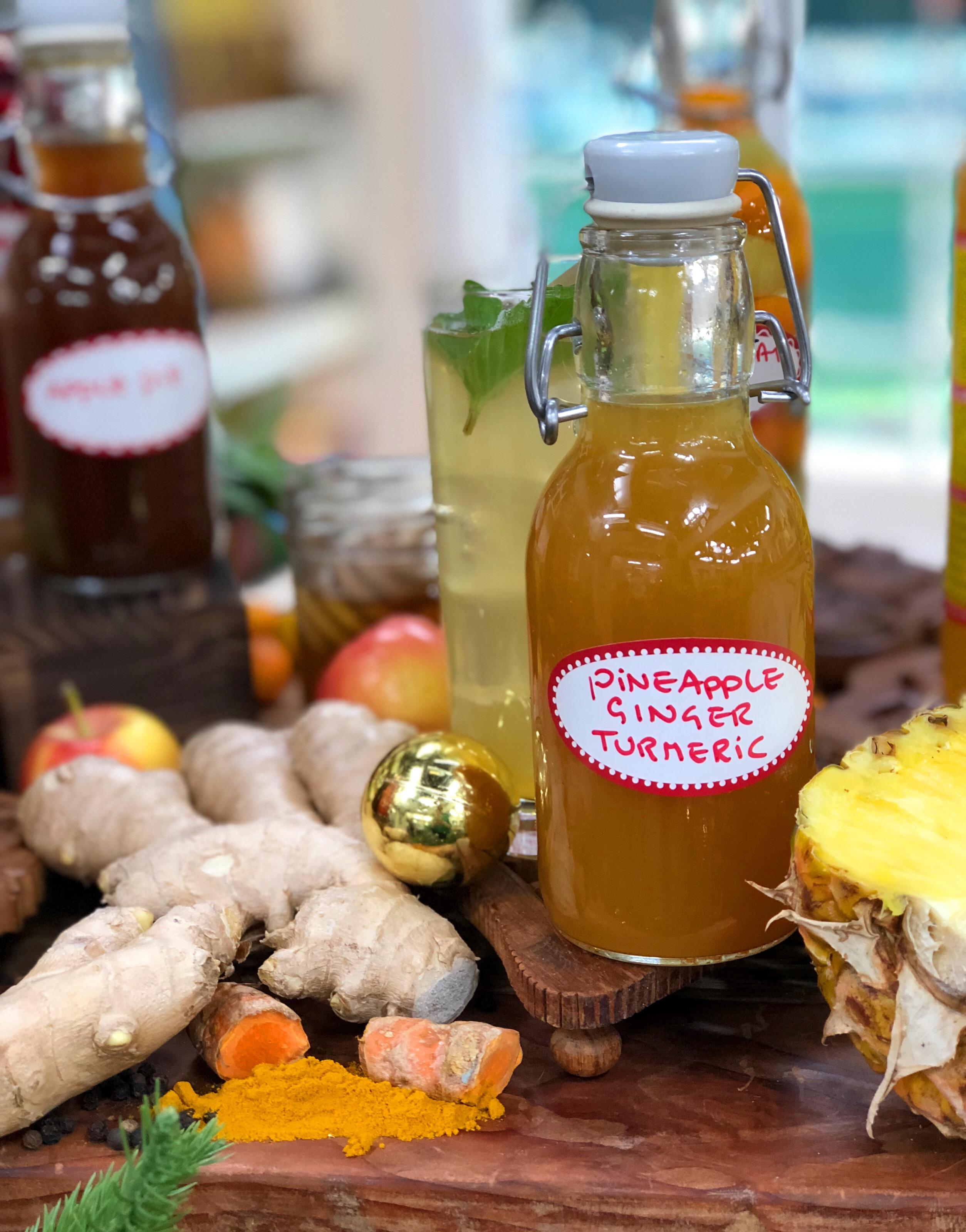 Pineapple Ginger Turmeric Shrub