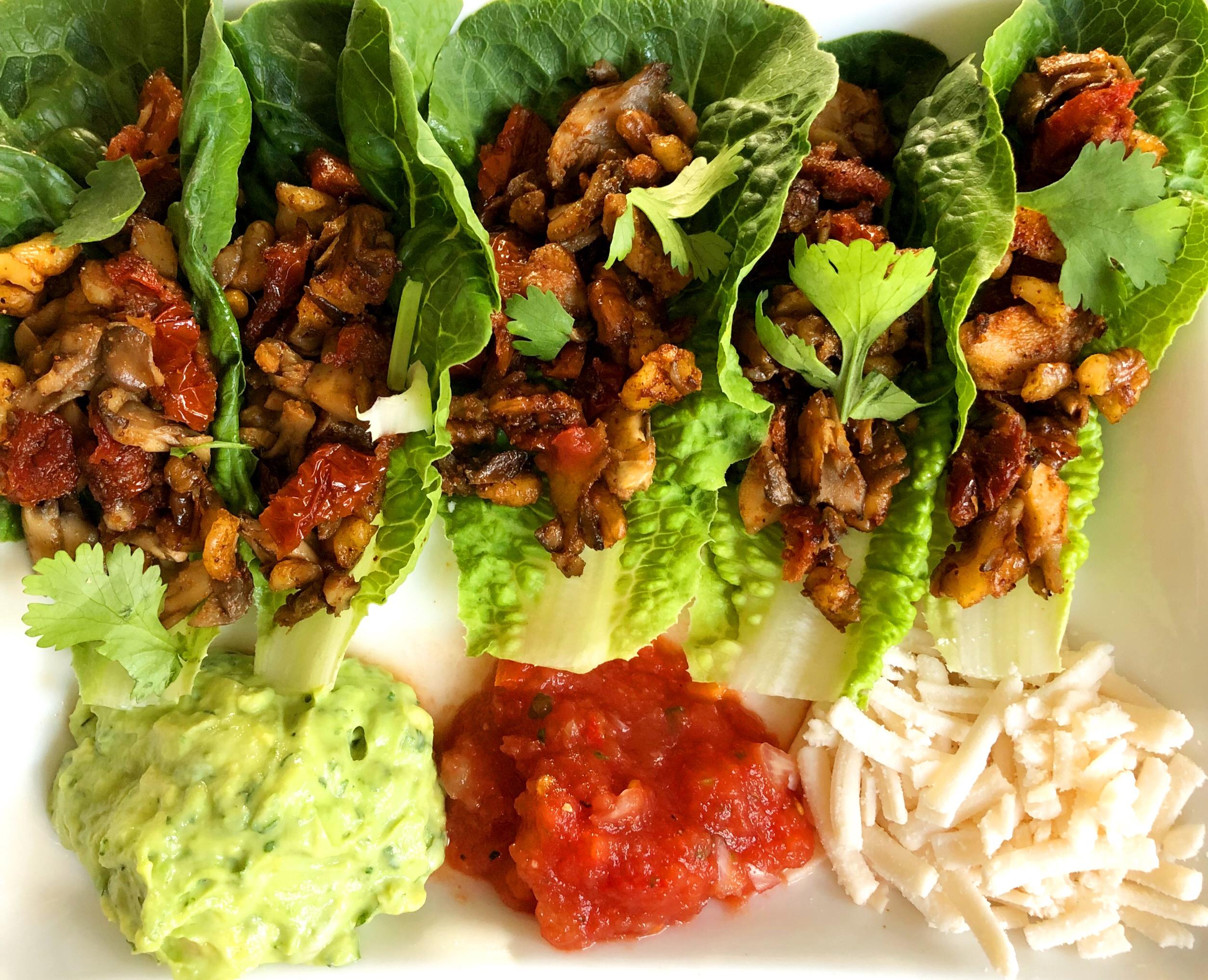 Mushroom & Walnut Tacos