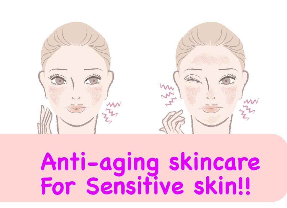 antiaging skincare for sensitive skin