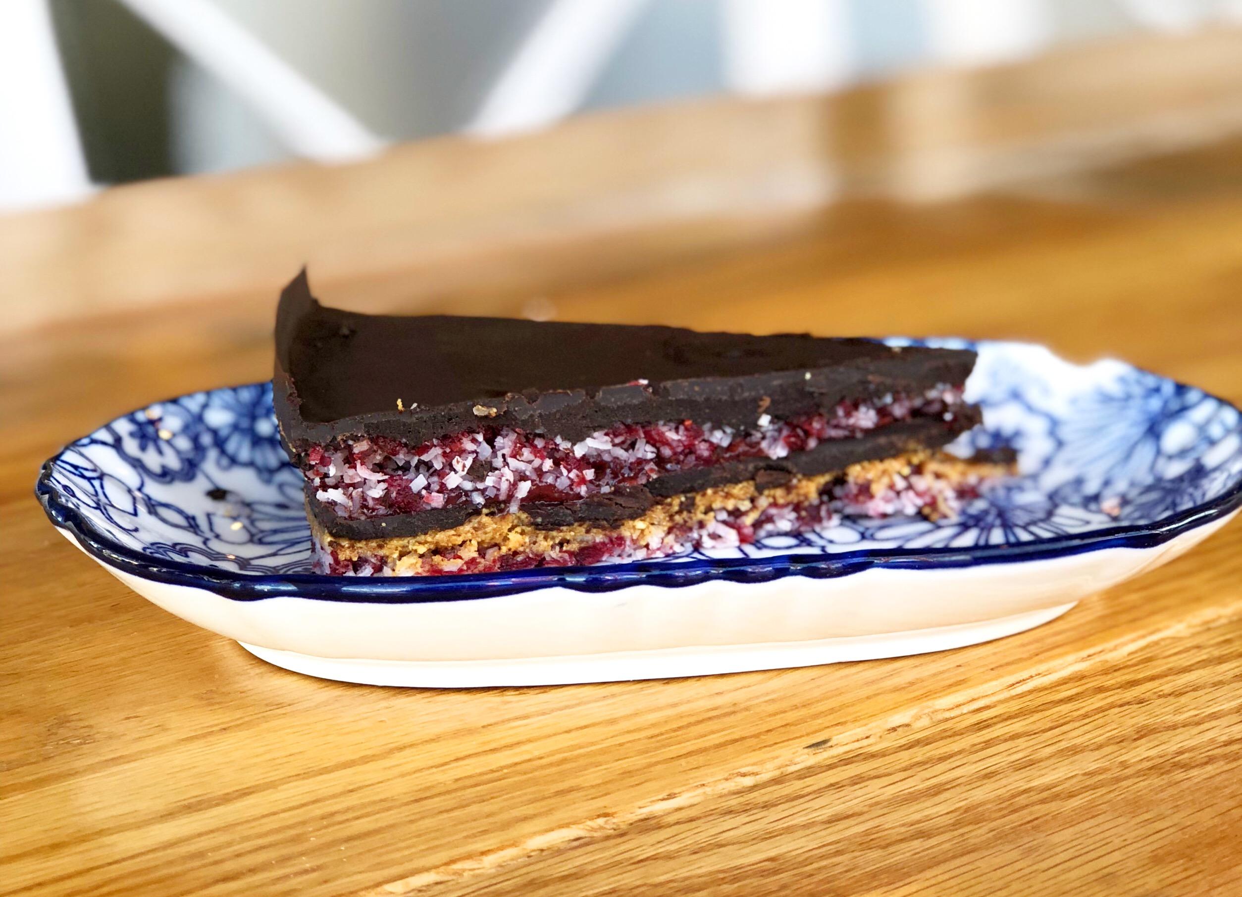 No-bake chocolate Raspberry love cake