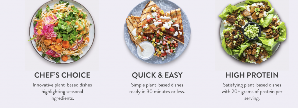 choose your vegan meal