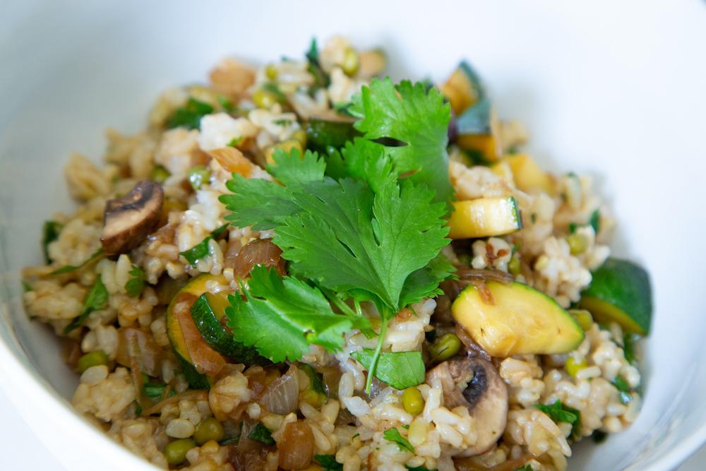 Mushroom & Zucchini Risotto