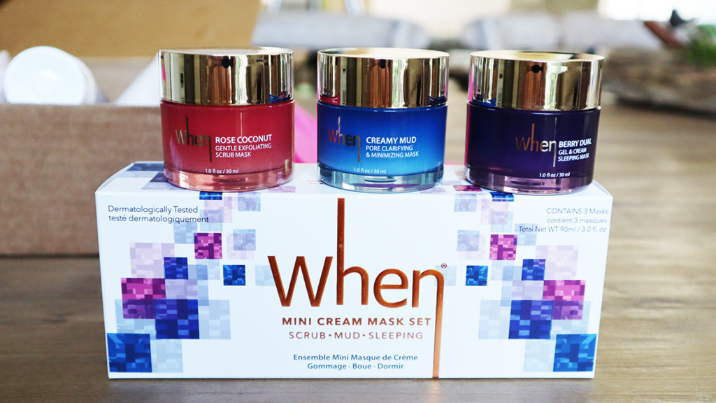 Cream Mask Trio Travel Set by When Beauty